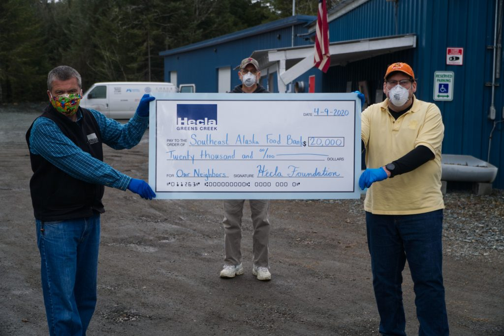 Hecla food bank donation